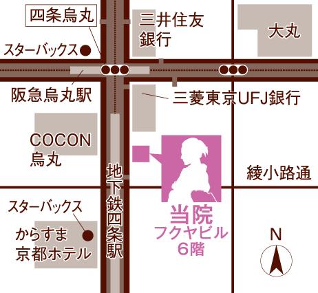 四条烏丸 松ヶ崎クリニック地図